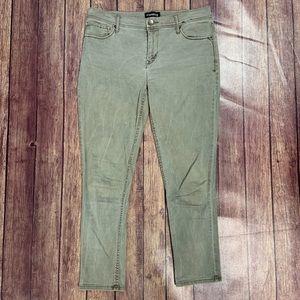 Express Olive Skinny Jeans